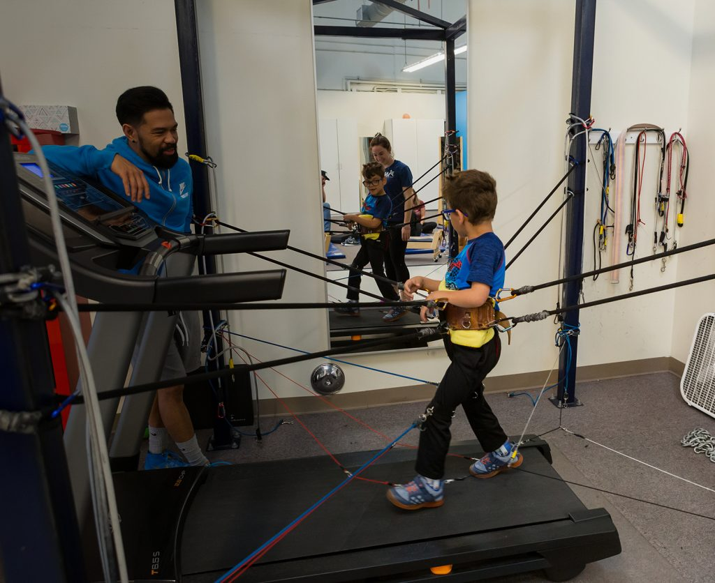 Treadmill gait training exercises offered at NAPA Center.