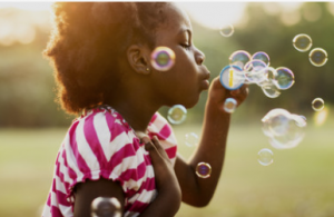 Bubbles are a go-to sensory toy!