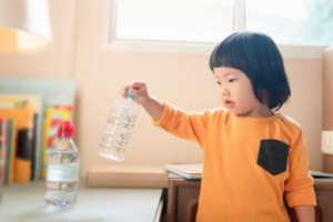Sensory bottles are a great choice for sensory toys for children.